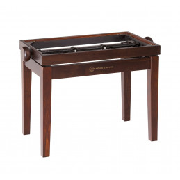 K&M Panca da pianoforte in legno, finitura palissandro opaco