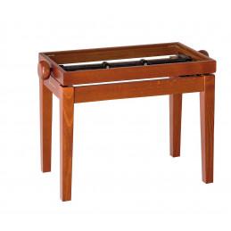 K&M Panca da pianoforte in legno, finitura ciliegio opaco