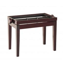 K&M Panca da pianoforte in legno, finitura mogano lucido