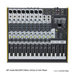 MPAUDIO - Mix-260FX Mixer...