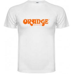 ORANGE T-SHIRT WHITE L