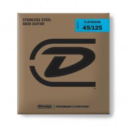 DBFS45125 Corde Flatwound per basso 45-125 Medium-5/Set