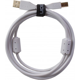 U95003WH - ULTIMATE AUDIO CABLE USB 2.0 A-B WHITE STRAIGHT  3M