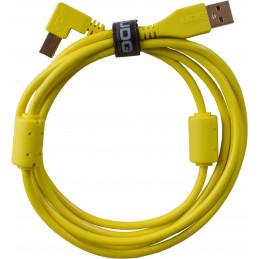 U95004YL - ULTIMATE AUDIO CABLE USB 2.0 A-B YELLOW ANGLED 1M