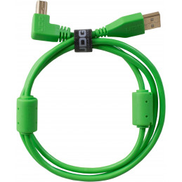 U95004GR - ULTIMATE AUDIO CABLE USB 2.0 A-B GREEN ANGLED 1M