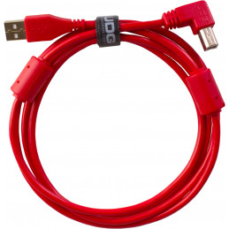 U95005RD - ULTIMATE AUDIO CABLE USB 2.0 A-B RED ANGLED 2M