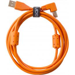 U95005OR - ULTIMATE AUDIO CABLE USB 2.0 A-B ORANGE ANGLED 2M