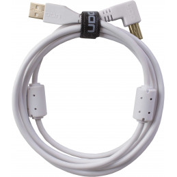 U95006WH - ULTIMATE AUDIO CABLE USB 2.0 A-B WHITE ANGLED 3M
